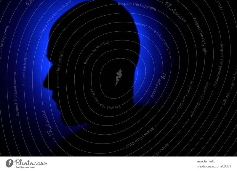 myHeadintoTheligh Mensch blau Wand Kopf