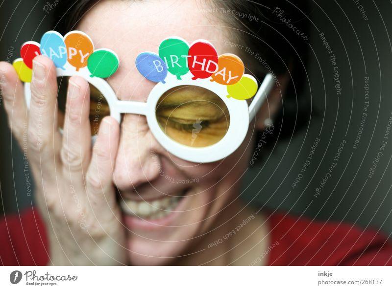 Herzlichen Glückwunsch, time. !!!!! Lifestyle Freude Freizeit & Hobby Entertainment Feste & Feiern Geburtstag Frau Erwachsene Leben Gesicht Hand 1 Mensch
