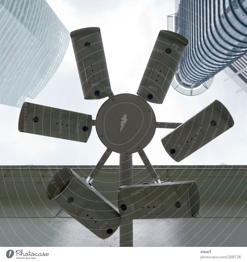 1984 Hardware Videokamera Fotokamera Technik & Technologie Haus Bauwerk Gebäude Architektur Fernglas authentisch Kraft Neugier Ordnung Perspektive Präzision