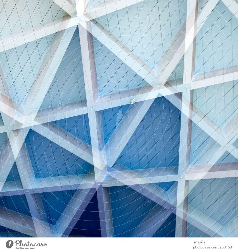Gradient Stil Holz Linie Streifen außergewöhnlich verrückt blau Doppelbelichtung Farbfoto Außenaufnahme Nahaufnahme Experiment abstrakt Muster