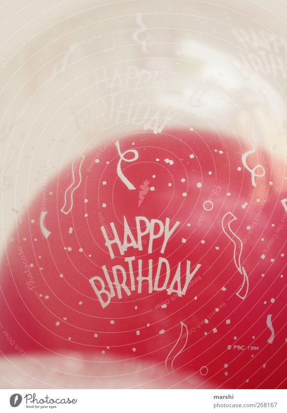 Happy Birthday Freizeit & Hobby Zeichen Schriftzeichen rosa rot Luftballon Geburtstag Feste & Feiern Geschenk Logo aufgeblasen Farbfoto Innenaufnahme