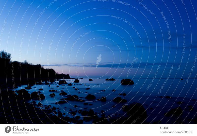 Ostsee IV Himmel Natur blau Wasser Wolken schwarz Küste rosa Bucht