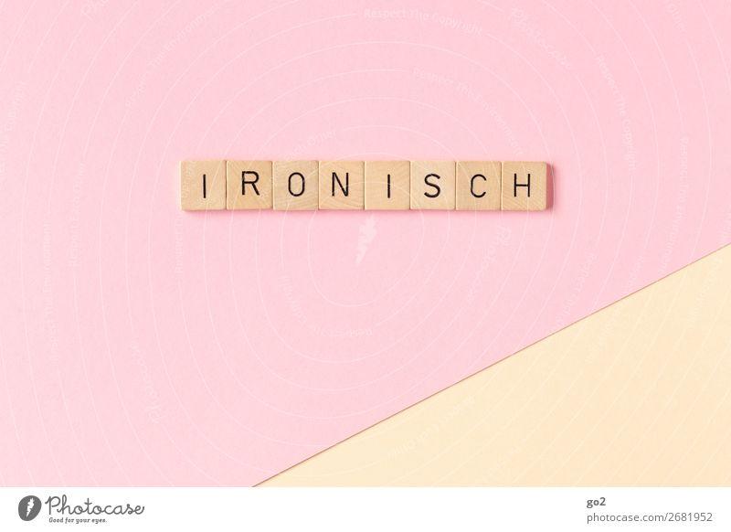Ironisch Spielen Papier Holz Schriftzeichen Kommunizieren frech listig lustig Gefühle Wahrheit Weisheit klug Unglaube Hochmut falsch Ärger gereizt