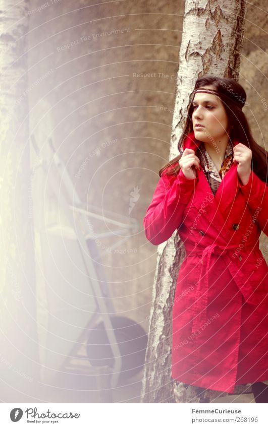 Ich seh' rot! Mensch Frau Natur Jugendliche Hand schön Erwachsene feminin Kopf Garten Park Junge Frau ästhetisch 18-30 Jahre beobachten