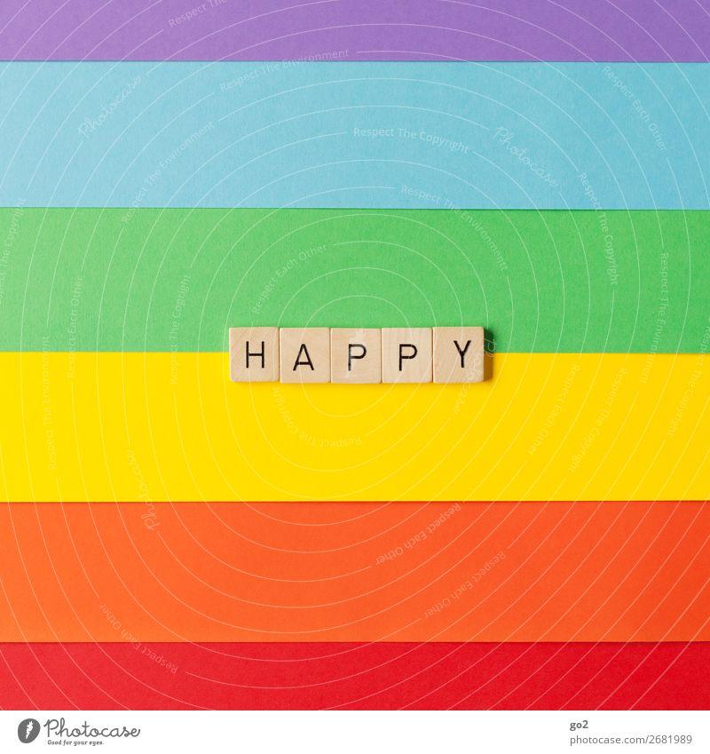 Happy Freude Leben Liebe Gefühle Glück Feste & Feiern Spielen Party Zusammensein Freundschaft Zufriedenheit Dekoration & Verzierung Schriftzeichen Geburtstag