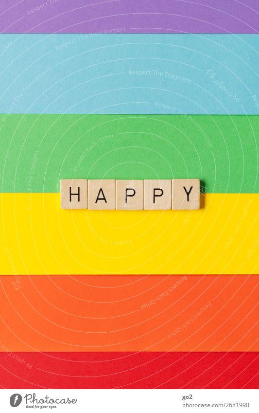 Happy Freude Holz Gefühle Glück Party Dekoration & Verzierung Schriftzeichen Geburtstag ästhetisch Fröhlichkeit Lebensfreude einzigartig Papier Zeichen Hochzeit
