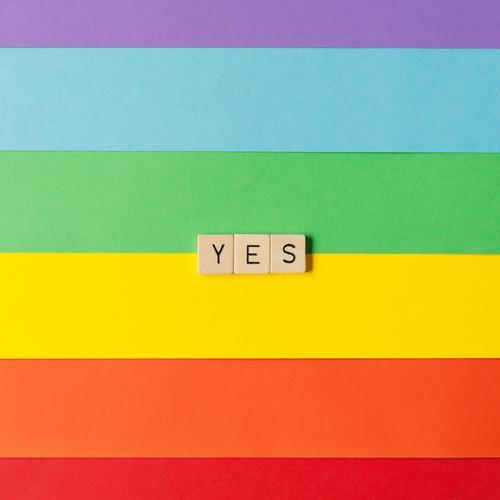 Yes! Spielen Entertainment Party Veranstaltung Feste & Feiern Hochzeit Geburtstag Papier Holz Schriftzeichen ästhetisch außergewöhnlich Fröhlichkeit positiv