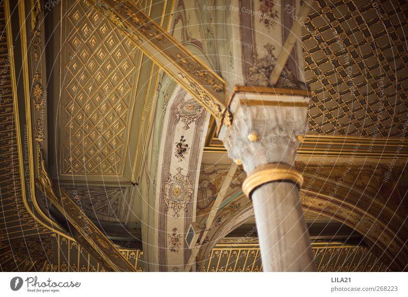 Stadt Sonne Wand Architektur Gebäude Mauer Stein Sand Fassade glänzend elegant gold Gold Europa Kirche Kultur