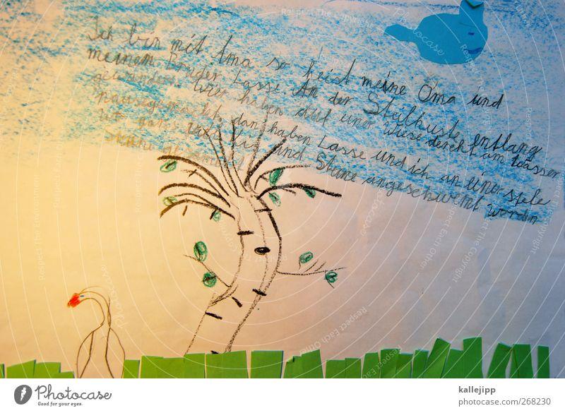 mit ama Himmel (Jenseits) Baum Tier Leben Gras Schule Kindheit Schriftzeichen lernen Bildung schreiben Großmutter Kindererziehung Schwan Erzählung