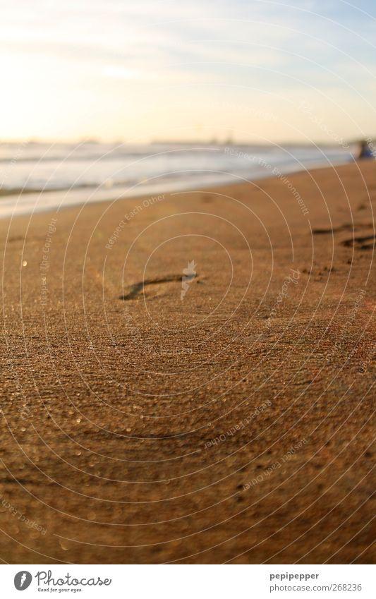 der weg ist das ziel Himmel Wasser Ferien & Urlaub & Reisen Meer Strand Küste Sand Wellen gehen Freizeit & Hobby Tourismus Schönes Wetter Bucht Fußspur Sommerurlaub