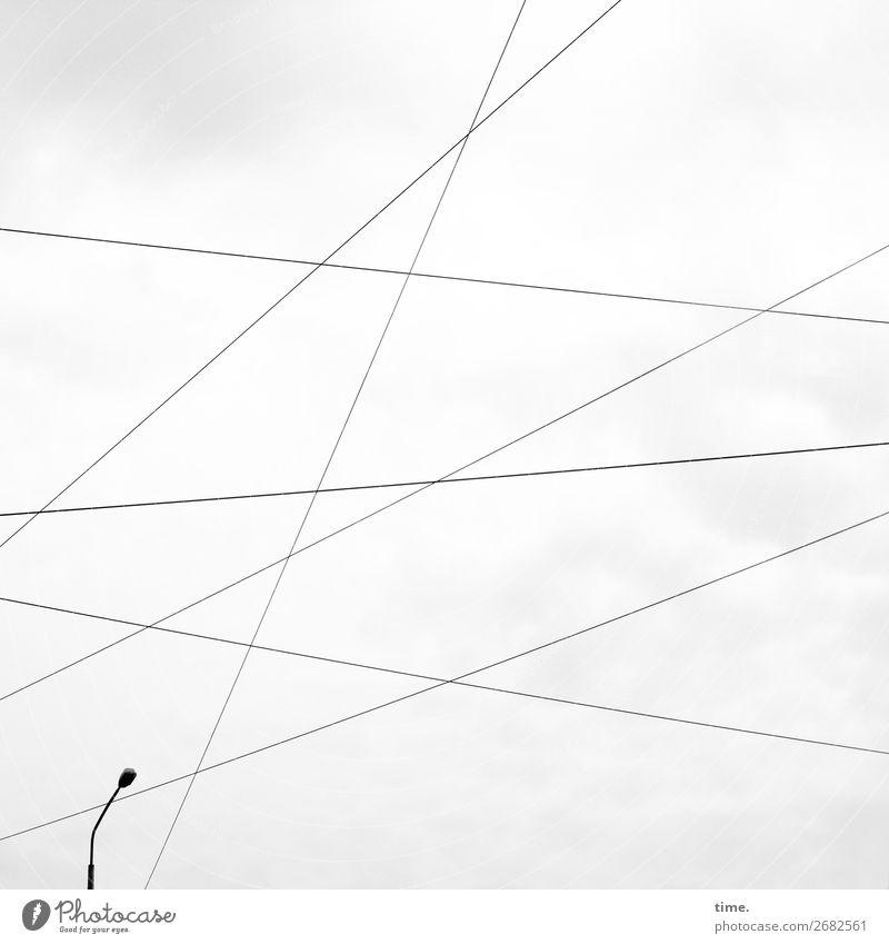 Vorstellungsgespräch Himmel Wolken Wege & Pfade Zusammensein grau Linie Energiewirtschaft Technik & Technologie Kraft ästhetisch Sicherheit