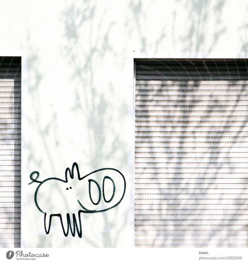 Ferkel gucken statt Schäfchen zählen | Betthupferl Stadt Baum Tier Leben Graffiti Wand lustig Glück Mauer Design Zufriedenheit Dekoration & Verzierung hell