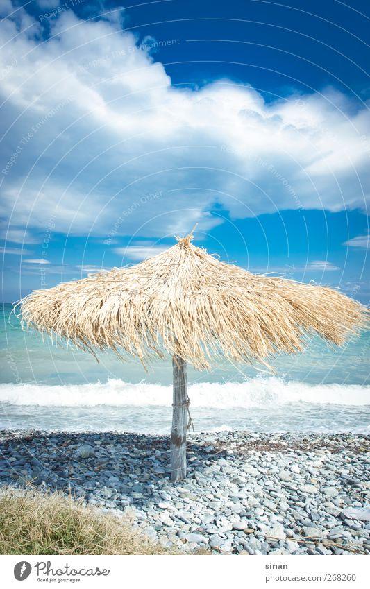 Strand in Griechenland exotisch Wohlgefühl ruhig Spa Ferien & Urlaub & Reisen Sommer Natur Landschaft Wasser Himmel Wolken Schönes Wetter Europa fantastisch