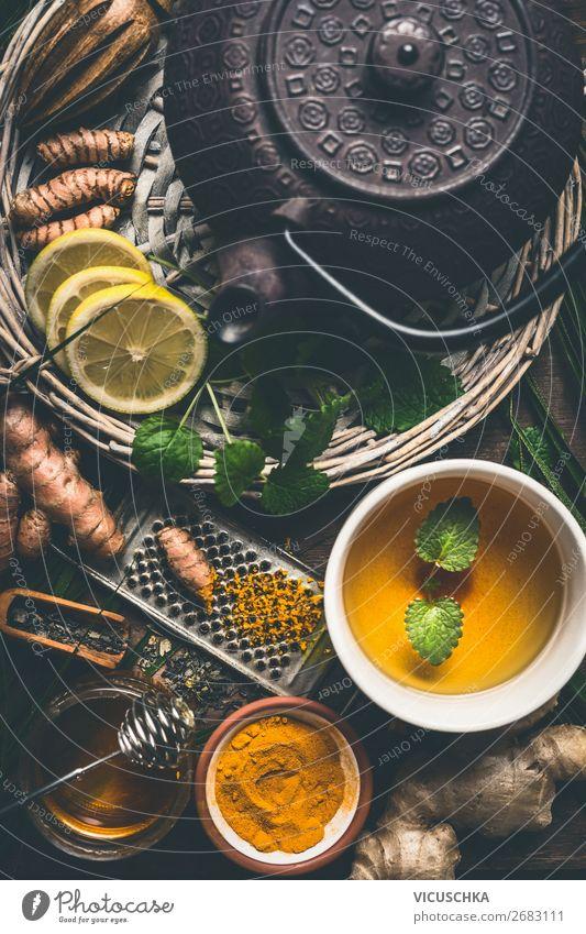 Tee aus Kurkuma und Ingwer mit Honig Gesunde Ernährung Gesundheit Lebensmittel Gesundheitswesen Stil Design Kräuter & Gewürze Getränk Bioprodukte