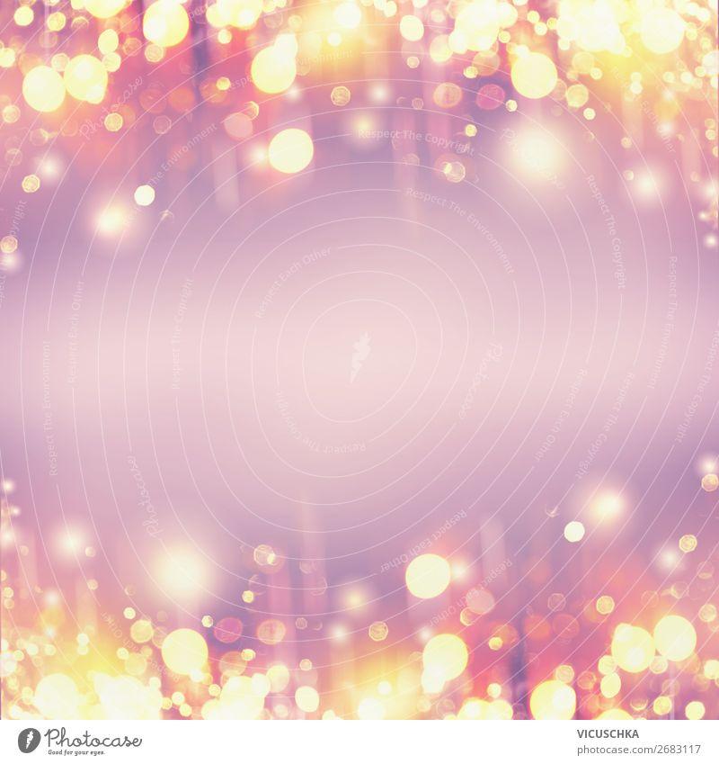 Goldene Feiertage Bokeh , Hintergrund Hintergrundbild Feste & Feiern Party Design gold trendy Veranstaltung Rahmen