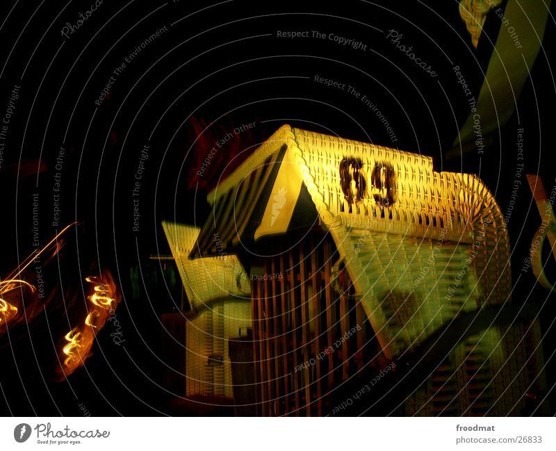 69 - mit Licht Strand Lampe Typographie Strandkorb Korb
