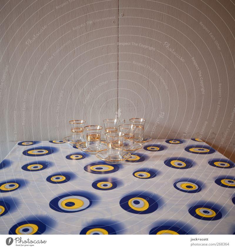 zur Feier des Tages (Türkçe) Stil Häusliches Leben Tisch Küche Tischdekoration Sammlung Tischwäsche Untertasse Teeglas exotisch Originalität retro viele blau
