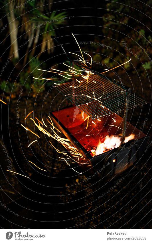 #AS# very funky Kunst Kunstwerk ästhetisch Grill Grillen Grillrost Grillkohle Grillsaison Griller Grillplatz Funken Farbfoto Gedeckte Farben Außenaufnahme
