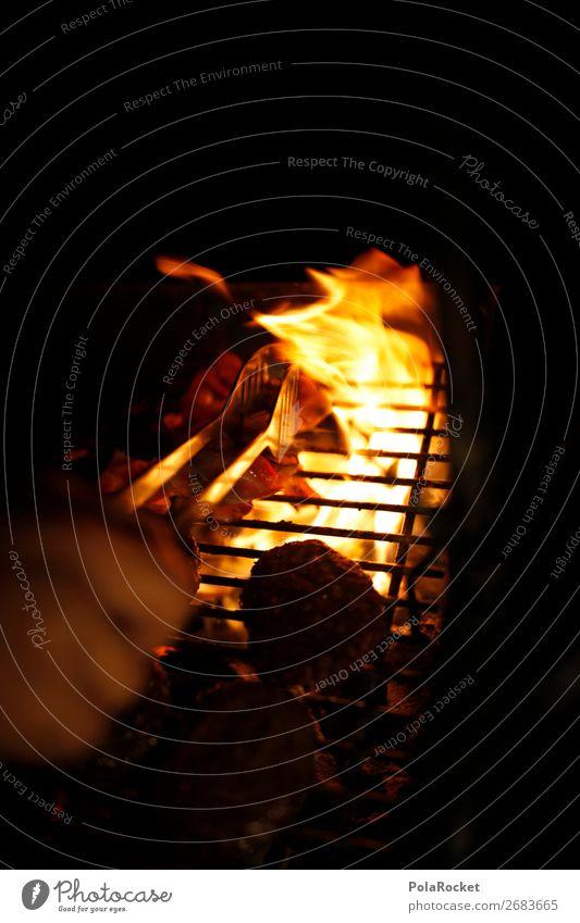 #AS# Grill and Chill Lifestyle einfach Grillen Ernährung Feuerstelle Holzkohle Rost Hamburger Zange Nacht perfekt Appetit & Hunger Steinzeit Freundschaft