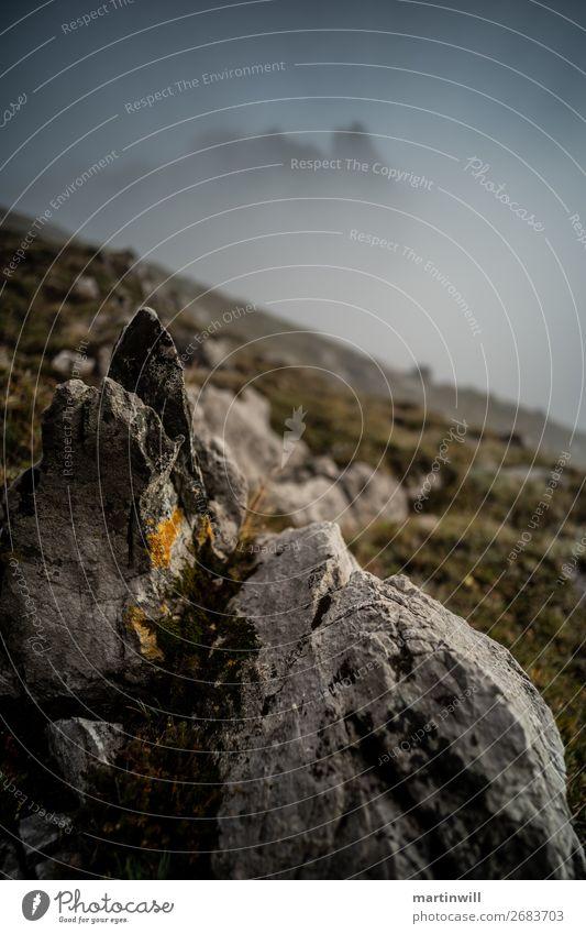 Nebel in den Lechtaler Alpen Ferien & Urlaub & Reisen Tourismus Natur Landschaft schlechtes Wetter Felsen Berge u. Gebirge Österreich Imst wandern Umwelt