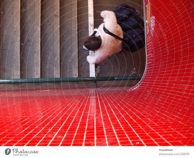 Rot | Grün | Treppe und von oben Mensch Fliesen u. Kacheln U-Bahn Geländer Mosaik