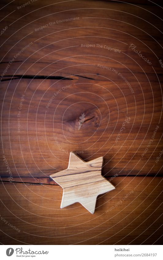 Holzstern auf Holzhintergrund Gefühle Geborgenheit Liebe Vorsicht Gelassenheit ruhig Stern Dekoration & Verzierung Weihnachten & Advent Weihnachtsstern