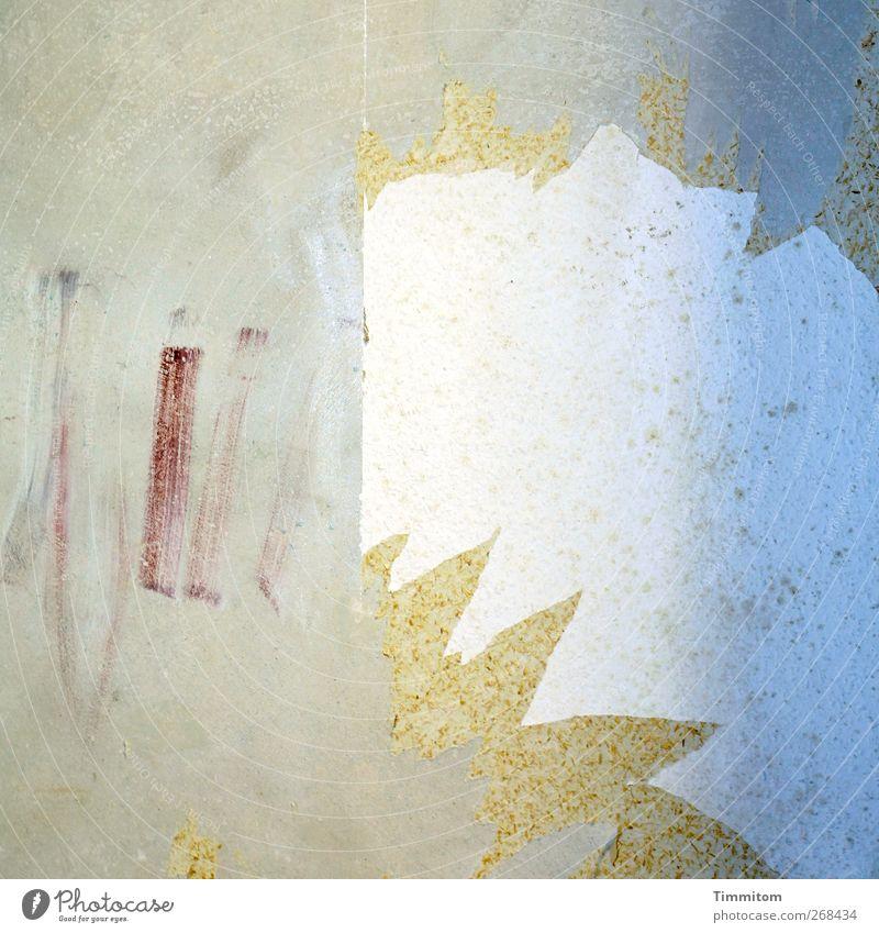 K...K...Karl sieht Sachen! weiß rot Wand Gefühle grau Mauer Kraft Beginn Häusliches Leben Macht Tapete Überraschung Renovieren Angriff beherrschen Zielvorstellung