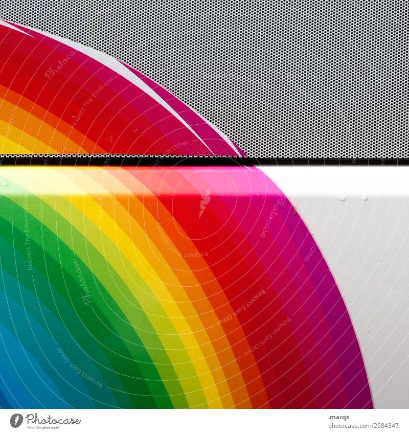 Taste the rainbow Farbe weiß Hintergrundbild Lifestyle Wand Stil Mauer Design Metall Coolness trendy Regenbogen