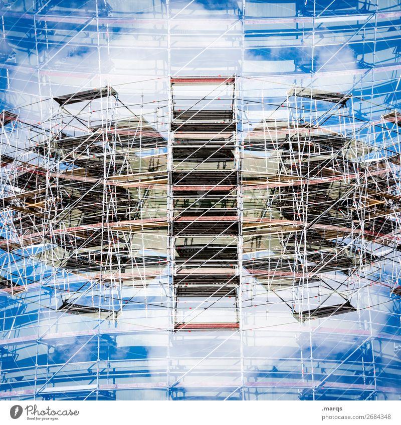 UFO Stil Design Baustelle Wissenschaften Himmel Wolken Bauwerk Gebäude Architektur Fassade außergewöhnlich groß einzigartig modern verrückt Perspektive