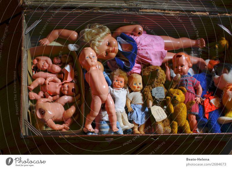 Alterserscheinungen | auch Spielzeug altert und erkrankt ... Körper Haare & Frisuren Bekleidung Kleid Puppe Teddybär Stofftiere Kasten wählen Spielen träumen