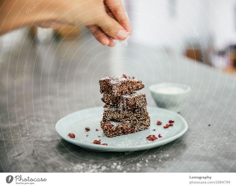 Amaranth-Riegel Lebensmittel Dessert Süßwaren Bioprodukte Vegetarische Ernährung Veganer Vegane Ernährung roh Rohkakao Preiselbeeren Kakao Snack Müsliriegel