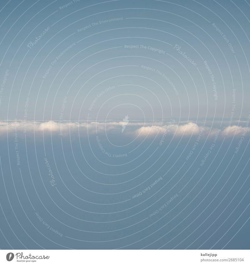 unten - mitte - oben Himmel Ferien & Urlaub & Reisen Natur blau Landschaft Wolken Ferne Umwelt Tourismus Freiheit fliegen Ausflug Horizont Wetter Luftverkehr