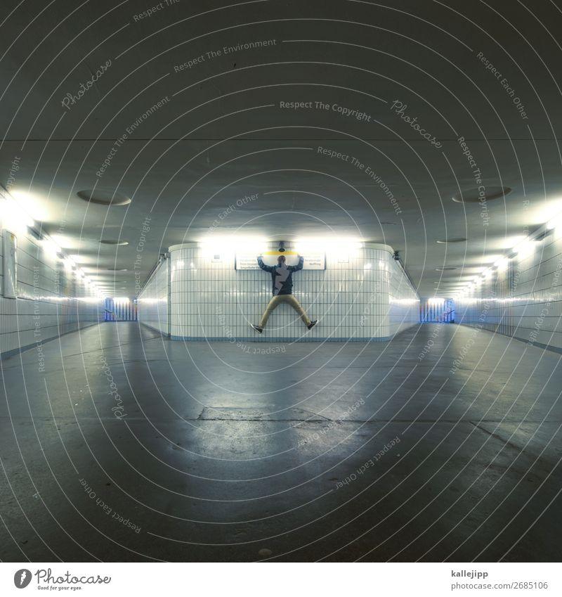 rechts, links, geradeaus? Mensch maskulin Mann Erwachsene Körper 1 30-45 Jahre 45-60 Jahre Dorf Tunnel springen U-Bahn Unterführung Straßenkreuzung planen