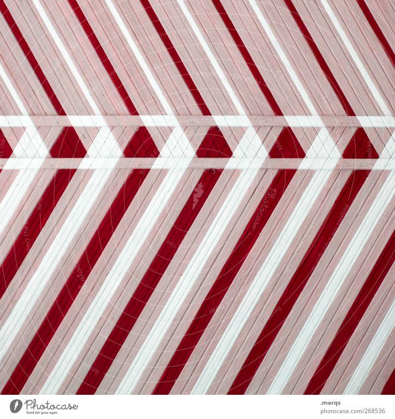 3D Lifestyle Stil Design Holz Linie außergewöhnlich Coolness trendy modern verrückt rot weiß Farbe Perspektive Irritation Zukunft Doppelbelichtung