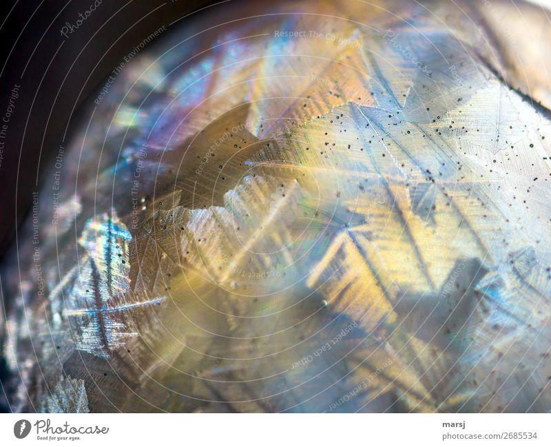 Die sonderbare Welt Seifenblase Eiskristall Kristallstrukturen Kristalle glänzend leuchten ästhetisch außergewöhnlich dunkel Erfolg fantastisch gigantisch