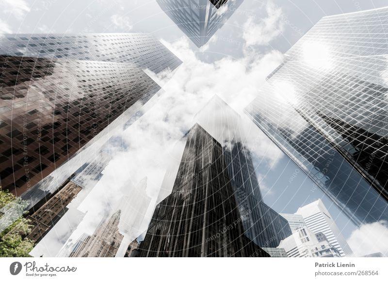 Empire State of Mind Ferien & Urlaub & Reisen Stadt Ferne Architektur Freiheit Gebäude träumen Business Wachstum Hochhaus ästhetisch Perspektive Netzwerk