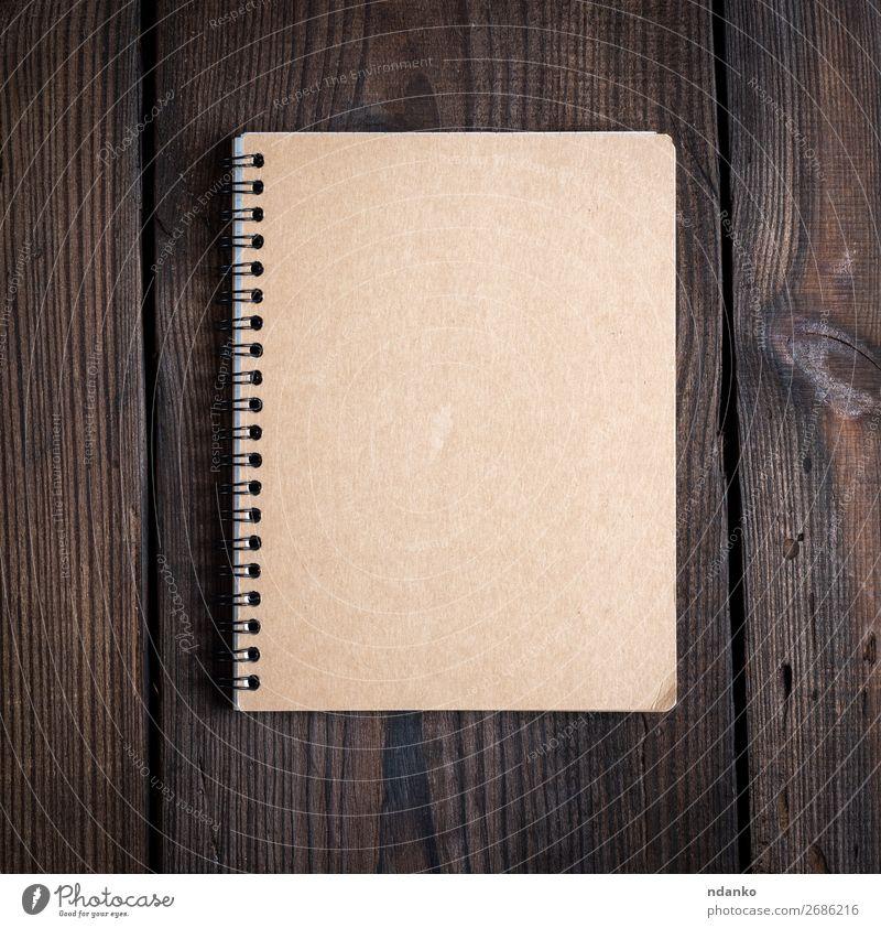 Holz Business Textfreiraum Schule braun Aussicht offen Buch Papier Idee Top Entwurf Mitteilung Konsistenz Notizbuch