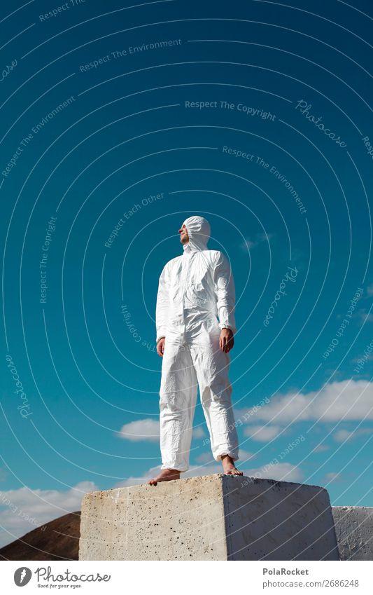 #AS# FutureMan Mensch maskulin Körper 1 Kunst ästhetisch Körperhaltung Körperkunst Anzug Raumfahrt Raumfahrtbehörde Zukunft Futurismus Zukunftsorientiert