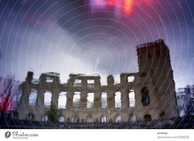 Höllenzart und Normannen Himmel Wolken Gewitterwolken Klima Wetter Burg oder Schloss Ruine Turm Bauwerk Gebäude Architektur Sehenswürdigkeit Wahrzeichen Denkmal