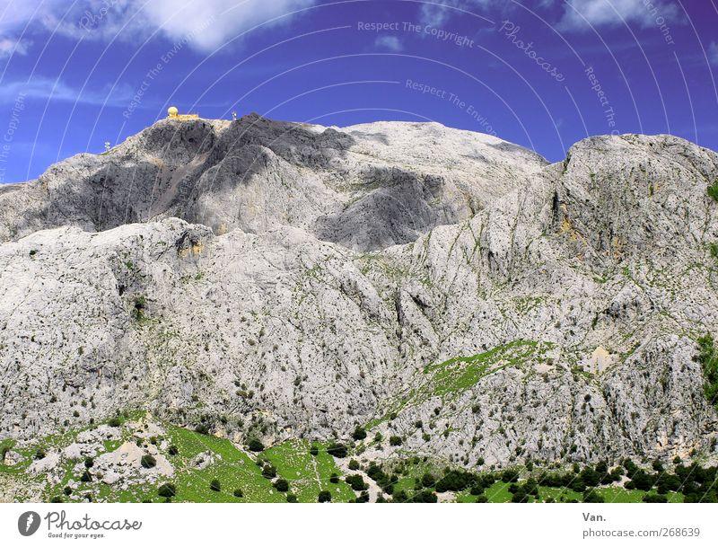 Puig Major Ferien & Urlaub & Reisen Berge u. Gebirge wandern Natur Landschaft Himmel Wolken Pflanze Baum Gras Wiese Felsen Mallorca Wärme blau grau grün hoch