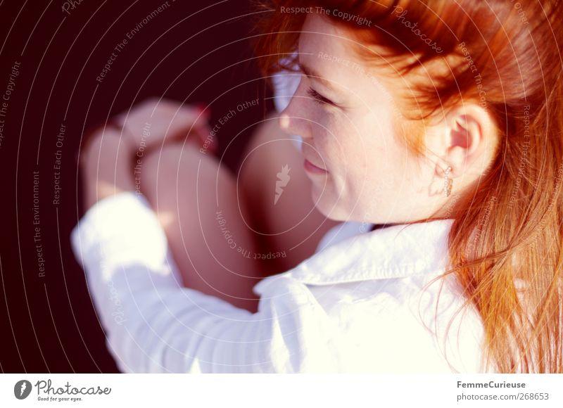 Natural redhead. Mensch Frau Jugendliche weiß Ferien & Urlaub & Reisen schön Freude Gesicht Erwachsene Erholung feminin Kopf lachen Stil Zufriedenheit