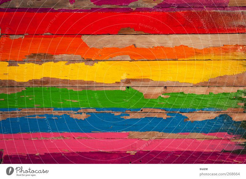 Farbauswahl Glück Homosexualität Holz Zeichen Graffiti Linie Streifen streichen alt einfach Fröhlichkeit positiv blau gelb grün violett rot Inspiration