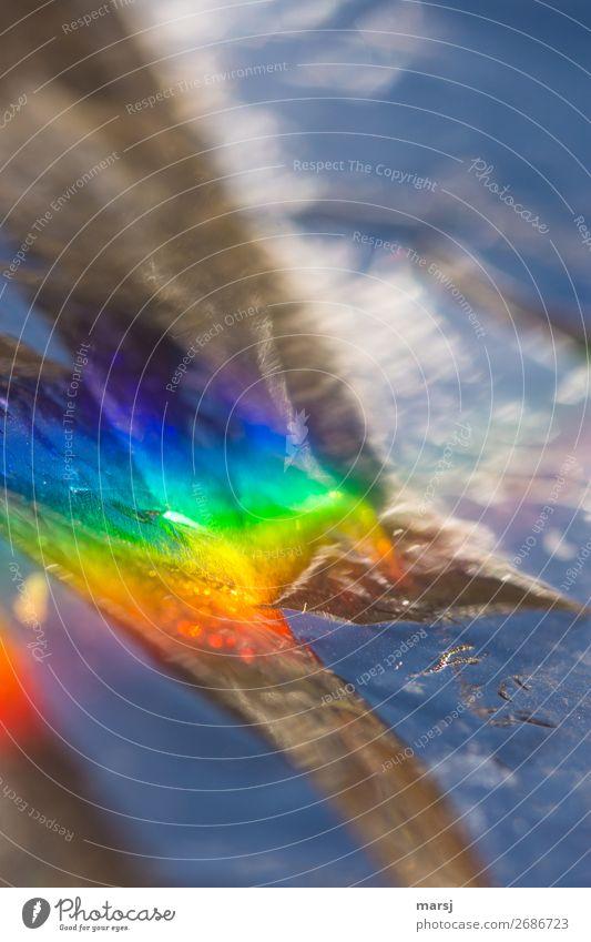 Künstlich bunt außergewöhnlich Metall leuchten fantastisch Kitsch Falte trashig skurril Aggression knallig Lichtbrechung Krimskrams anschaulich regenbogenfarben