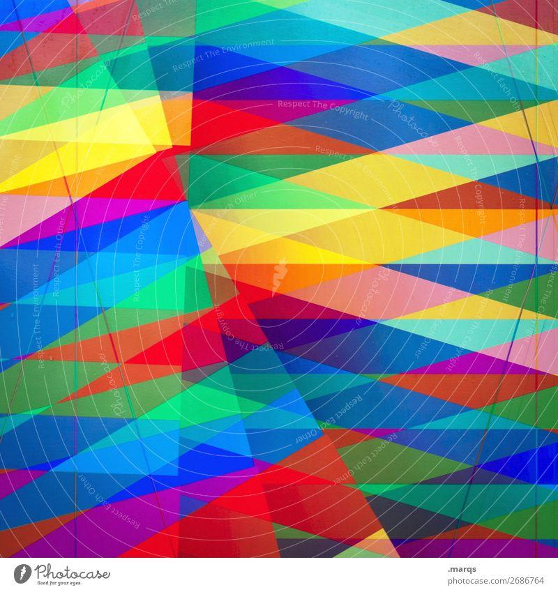 Bunte Rauten bunt abstrakt Dekoration & Verzierung Hintergrundbild Vielfalt Linie Design Muster Strukturen & Formen Kreativität Doppelbelichtung Stil