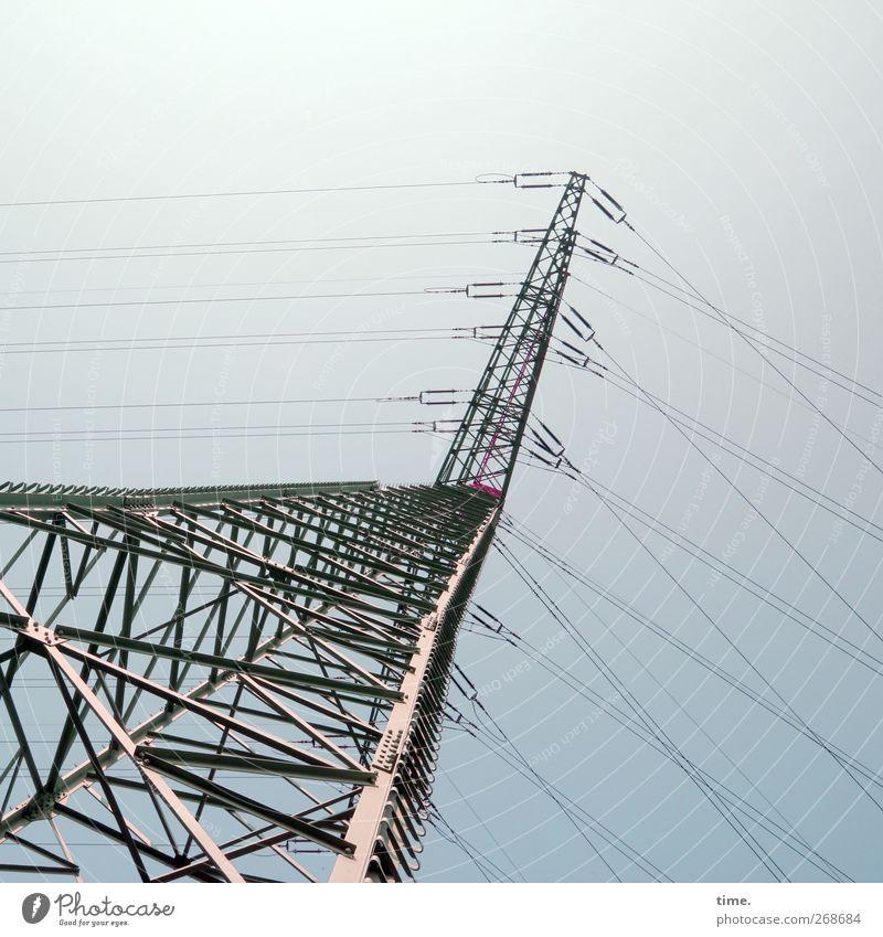 Server blau Ferne grau Kraft hoch Energiewirtschaft Design modern Macht Industrie bedrohlich Technik & Technologie Zusammenhalt Dienstleistungsgewerbe Reichtum