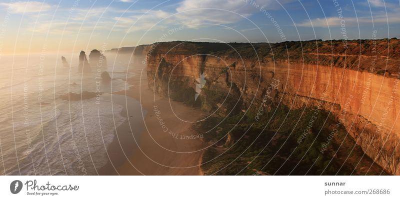 Great Ocean Road Natur Wasser Ferien & Urlaub & Reisen Meer Sommer Strand Wolken Ferne Umwelt Landschaft Küste Freiheit Sand Wellen Felsen Schönes Wetter