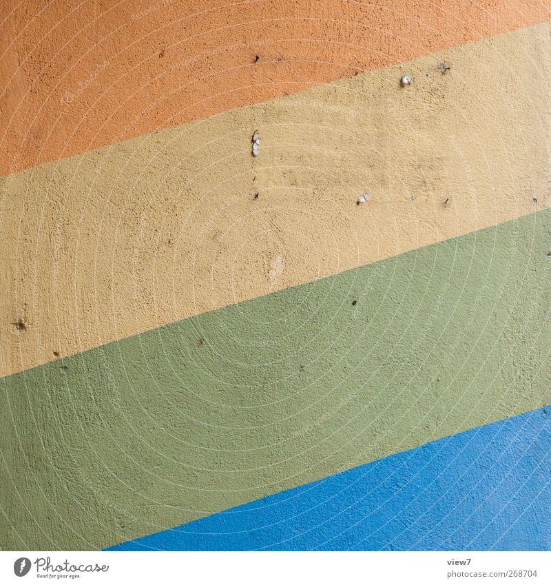 colored city Bauwerk Gebäude Architektur Mauer Wand Stein Beton Linie Streifen alt ästhetisch authentisch dreckig hell modern mehrfarbig Beginn Design Identität