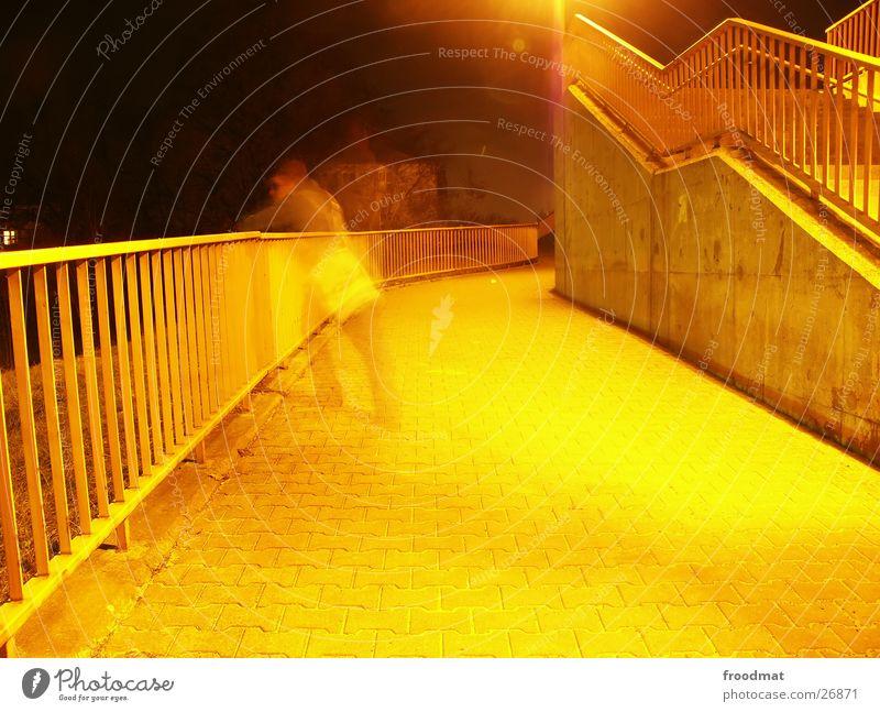 Gelblicht gelb Treppe Tasche Treppengeländer Cottbus
