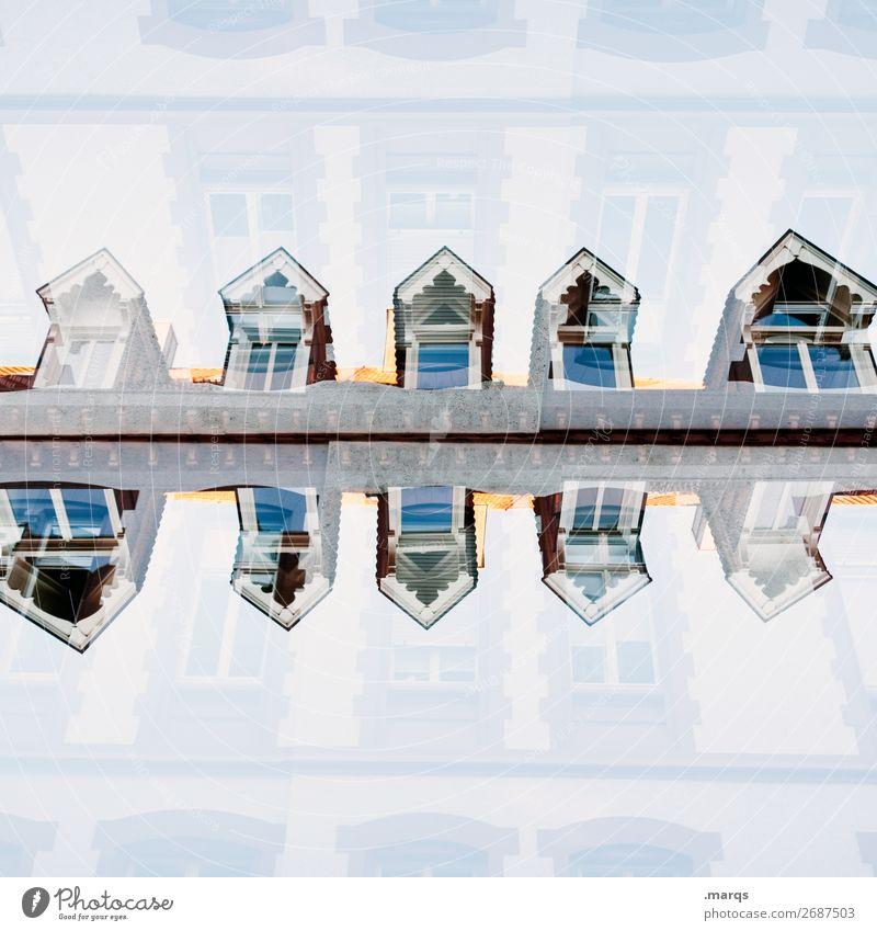 Spiegelung (unlogisch) Stil Häusliches Leben Haus Bauwerk Architektur Fenster Dach außergewöhnlich einzigartig verrückt Inspiration Perspektive Symmetrie