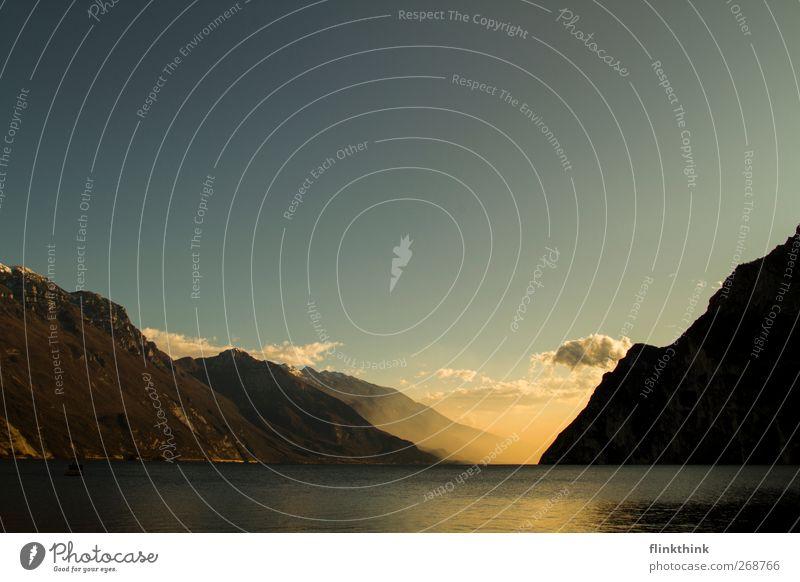 Seeblick Himmel Natur Wasser Ferien & Urlaub & Reisen Sommer Wolken Wald Erholung Umwelt Landschaft Berge u. Gebirge Frühling See Schönes Wetter Hügel Seeufer